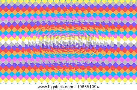 Abstract square colored pixels with ripple effect background