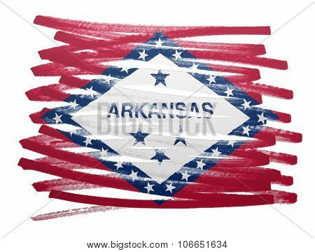 Flag Illustration - Arkansas