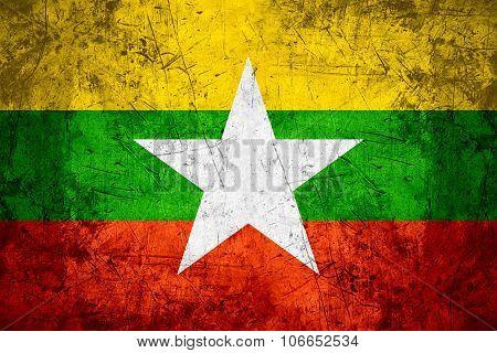 Burma Flag, Myanmar
