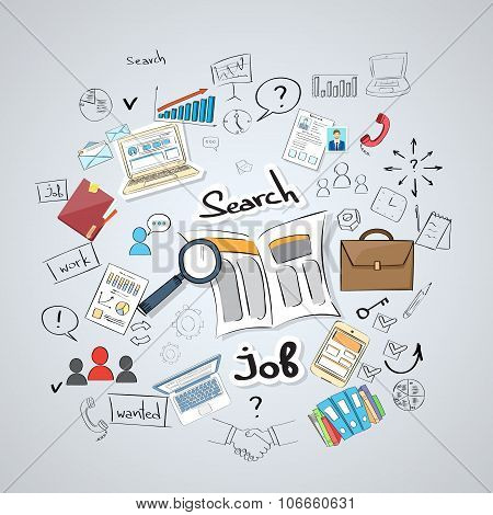 Business Searching Job Newspaper Classified