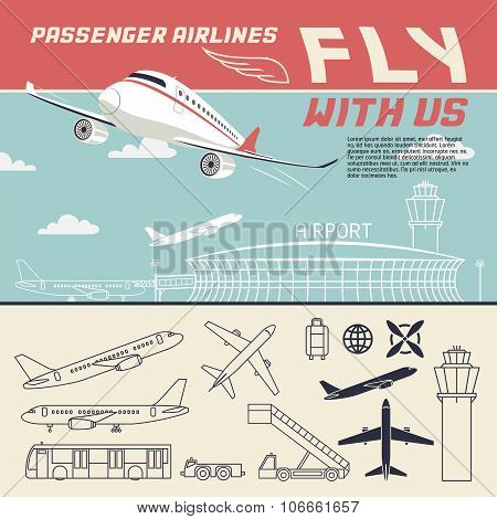 Airline Illustration And Icons