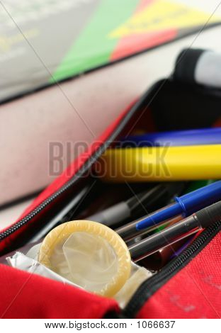 Condom In Pen-Case