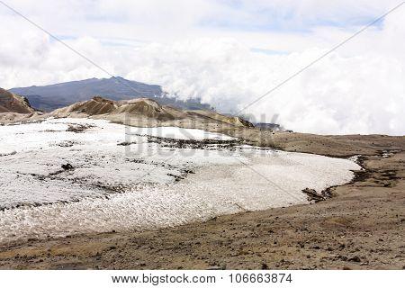 Glacier Volcano Nevado Del Ruiz, Colombia