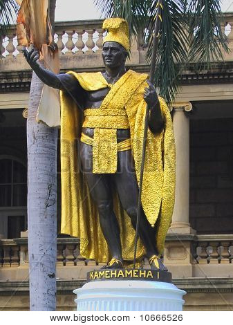 Statue of King Kamehameha I in Hawaii