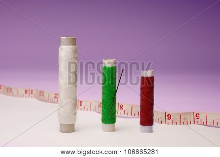 Reels Isolated. Dressmaking Concept