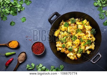 Aloo Gobi Indian Food