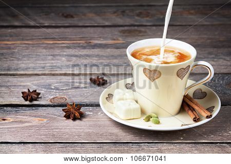 Indian Masala Milk Tea With Spices