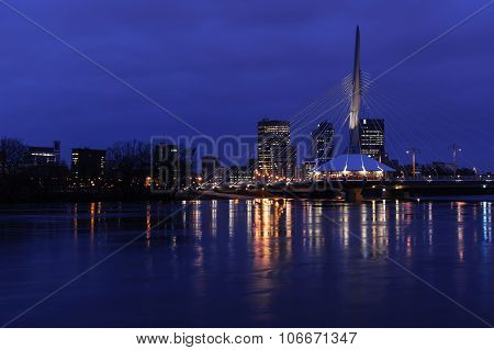 Esplanade Riel Bridge At Night