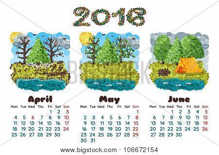 Calendar 2016-2 Nature