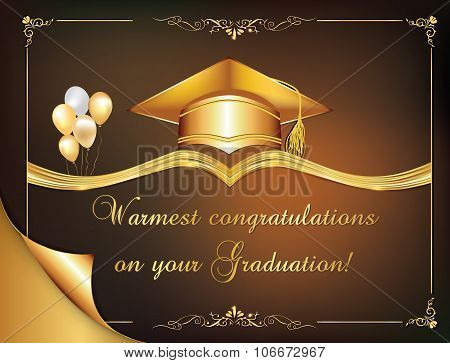 Elegant Graduation card, also for print.