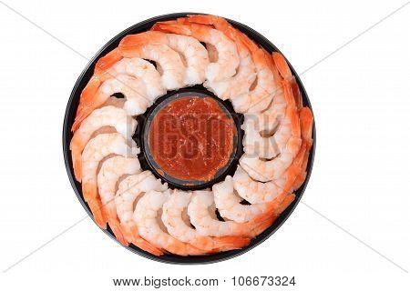 top view shrimp ring