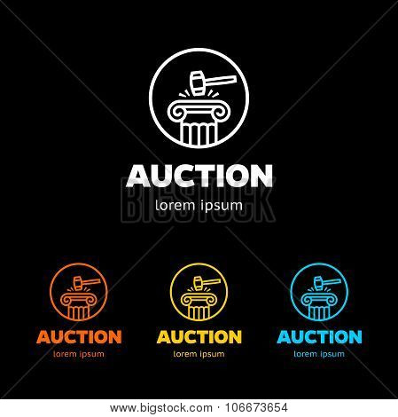 Auction Hammer Logotype
