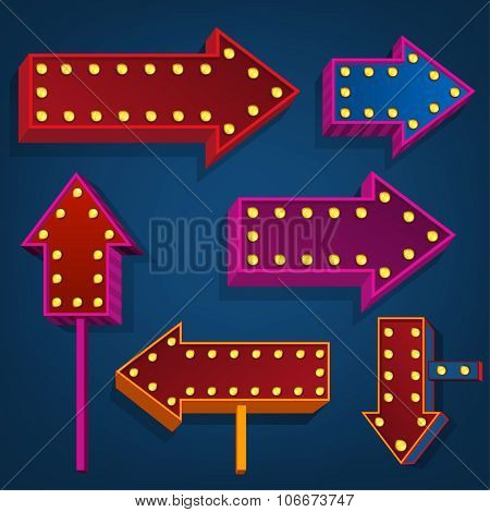 abstract direction arrows and bunners