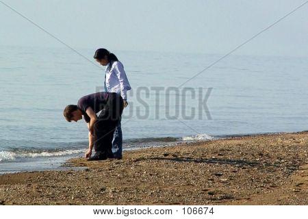 Rock Collecting At Lake Michigan