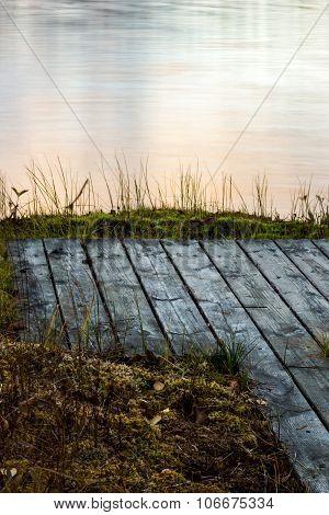 Bridge by lake