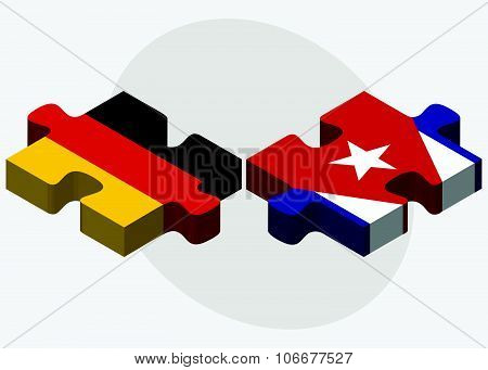 Germany And Cuba Flags