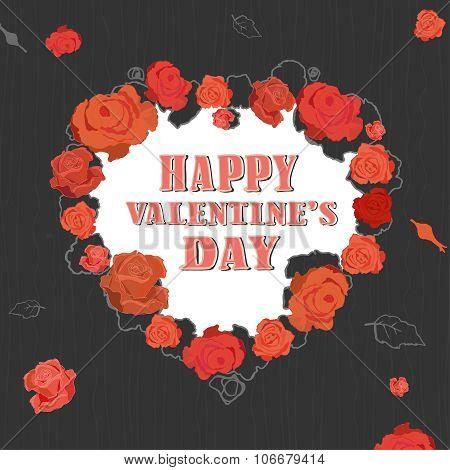 Roses Valentine Background