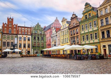 Stary Rynek, Old Marketplace Square In Poznan, Poland