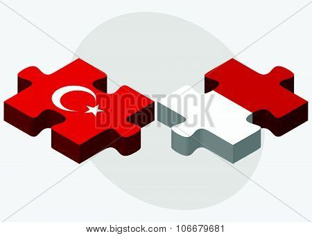 Turkey And Monaco Flags