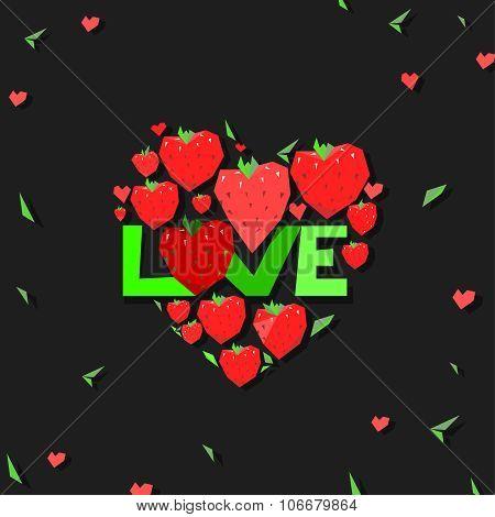 heart strawberry illustration