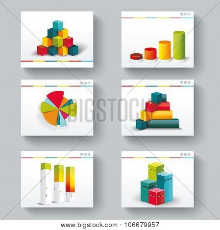 Presentation Slide Templates For Your Business With Infographics And Diagram Set