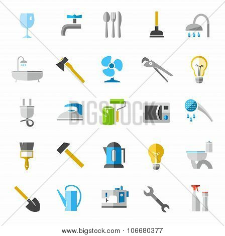 Household Goods, Color Icons,...