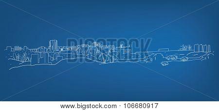 Line Landscape illustration