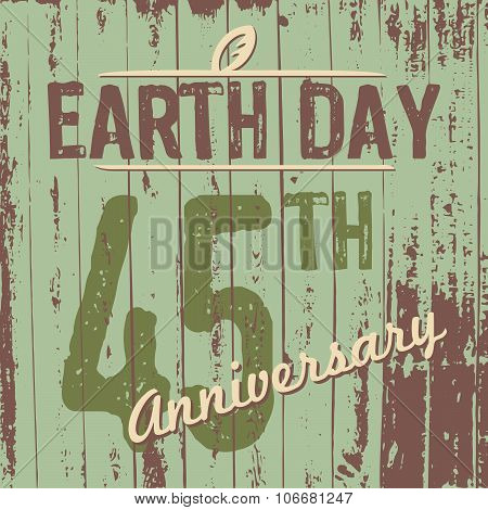 Earth Day's 45Th Anniversary