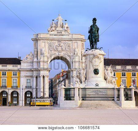 Praca Do Comercio Square, Lisbon, Portugal