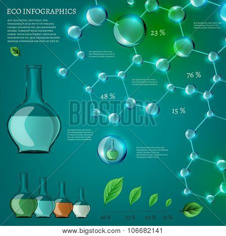 Infographics Bio Bubble set