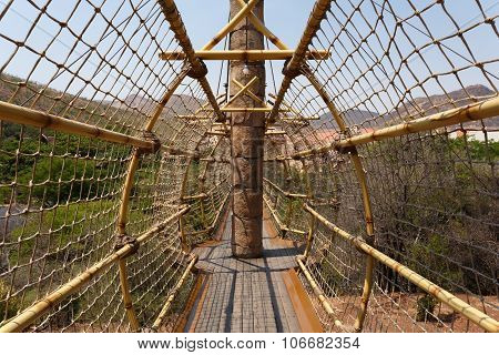Suspension Rope Bridge In Sun City South Africa