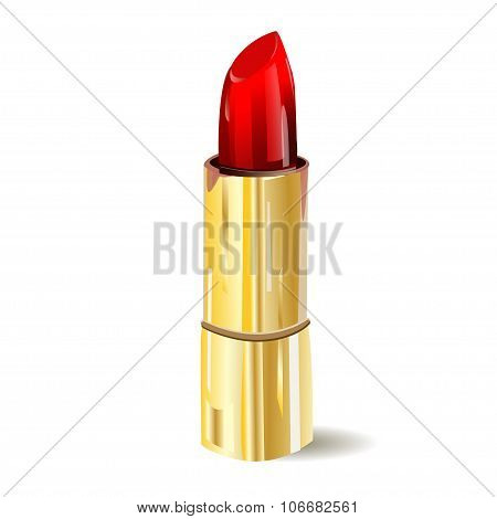 Lipstick isolated on white background. illustration. Pomade icon.