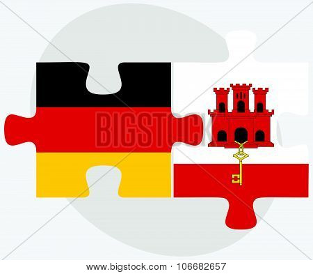 Germany And Gibraltar Flags