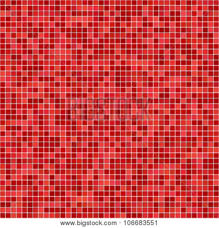 Red pixel mosaic background