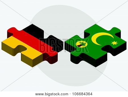 Germany And Cocos (keeling) Islands Flags