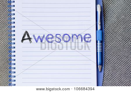 Awesome Write On Notebook
