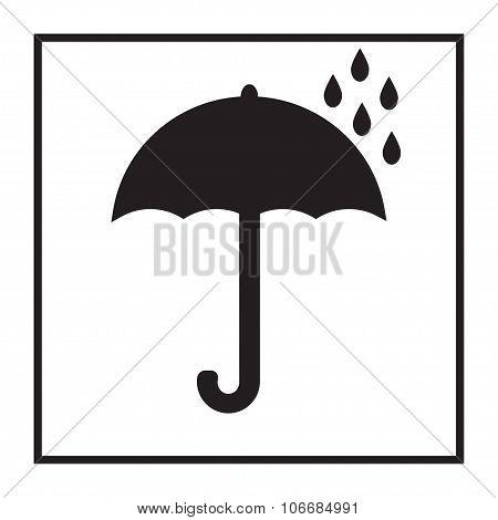 Umbrella icon. Fragile or packaging symbol. Vector illustration.