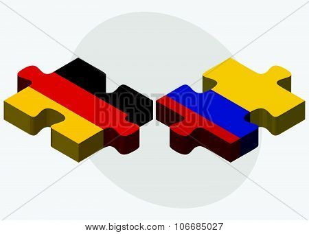 Germany And Colombia Flags
