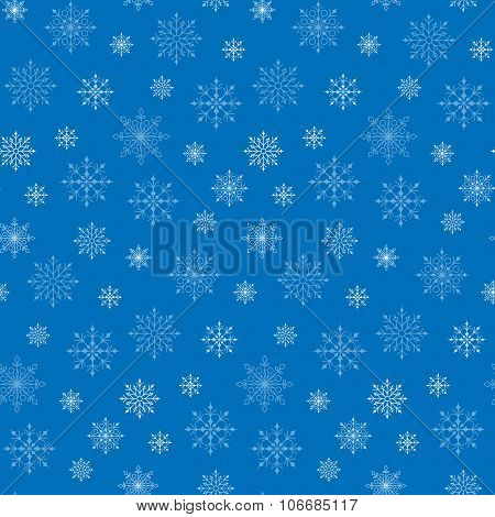 Seamless Winter Snow Flakes Background Pattern