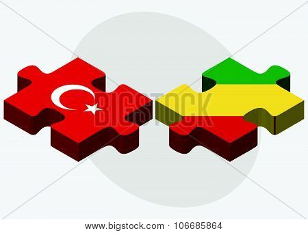 Turkey And Congo Flags