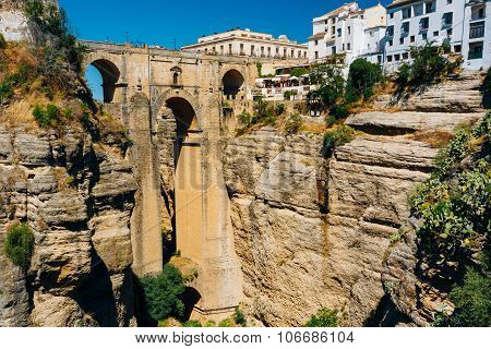 The Puente Nuevo - New Bridge in Ronda, Province Of Malaga, Spain