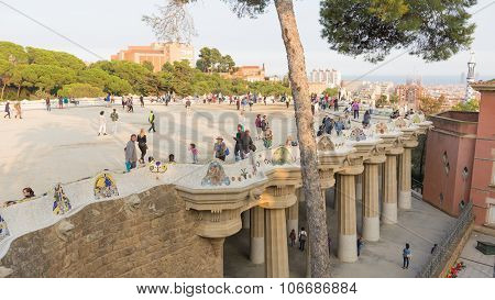 People In The Park Guell