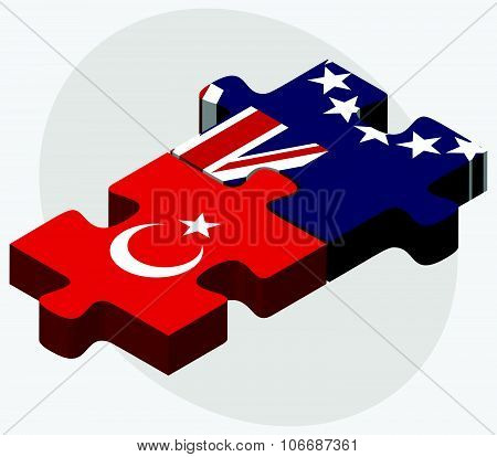 Turkey And Cook Islands Flags
