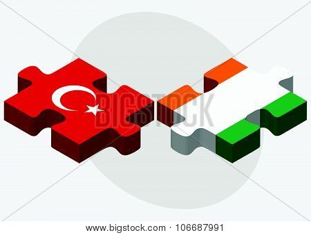 Turkey And Cote Divoire Flags