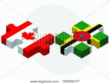 Canada And Dominica Flags