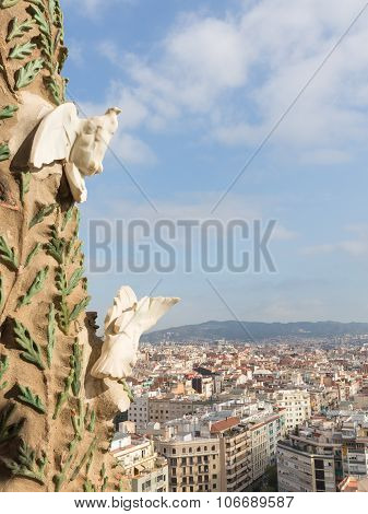 Views Of Barcelona From The Facade Of The Nativity