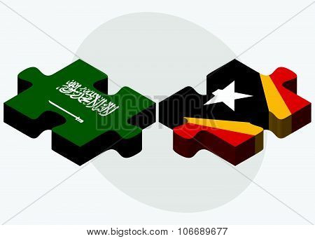 Saudi Arabia And East Timor Flags