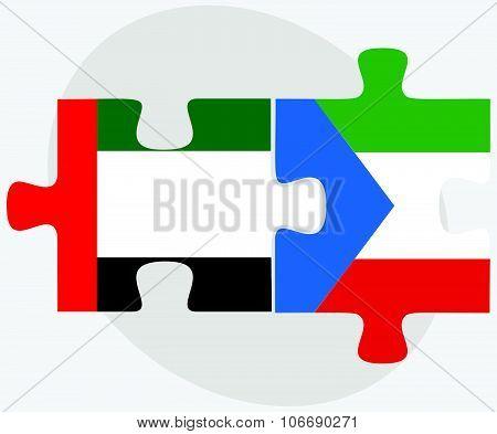 United Arab Emirates And Equatorial Guinea Flags