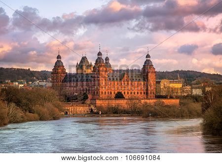 Renaissance Castle Johannisburg On Main River, Aschaffenburg, Germany
