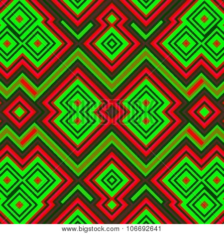 Abstract geometric seamless computer rendered pattern